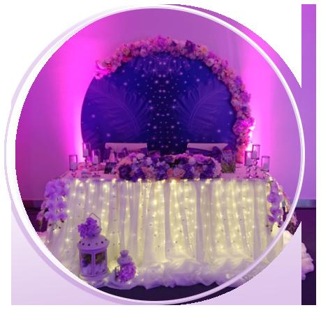 Кръгло лого на Сватбена агенция Вълшебниците София сватбена украса и декорация на сватба в България, сватбен агент