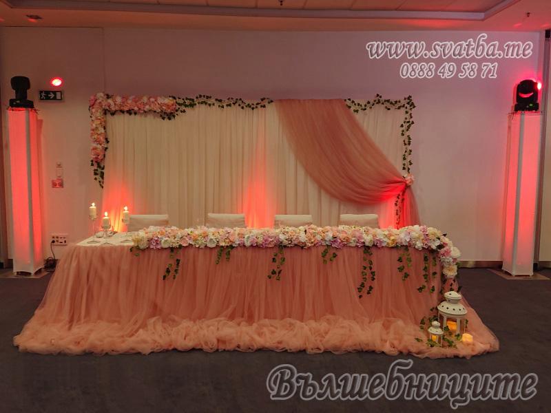 Сватбена декорация в Хотел Новотел София