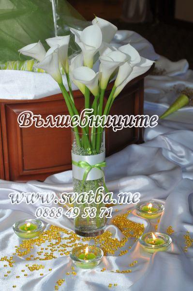 Сватбена украса в София хотел Мезон Maison Hotel Sofia wedding в зелено, декорация на сватба със зелени панделки за столове