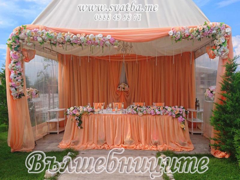 Сватбена декорация в Градински комплекс Garden Weddings Пловдив
