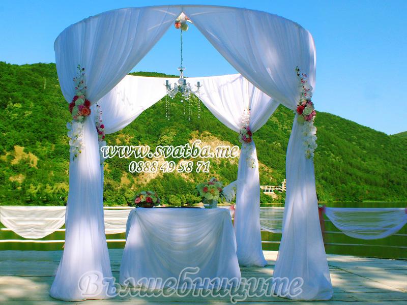 Сватбена декорация в Ресторант Лебед Панчарево Лебеда