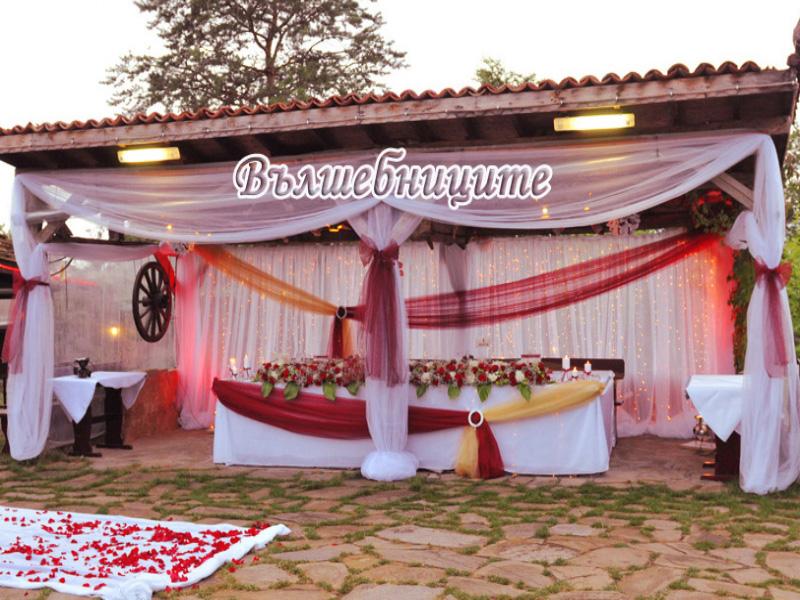 Сватбена декорация в Ресторант Българан Казанлък