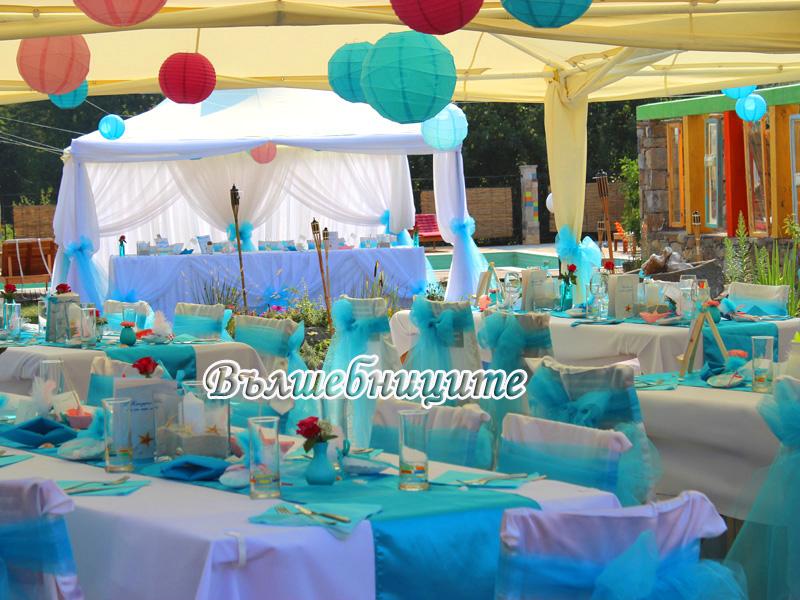 Сватбена декорация в Хотел Каза Арт Орешак