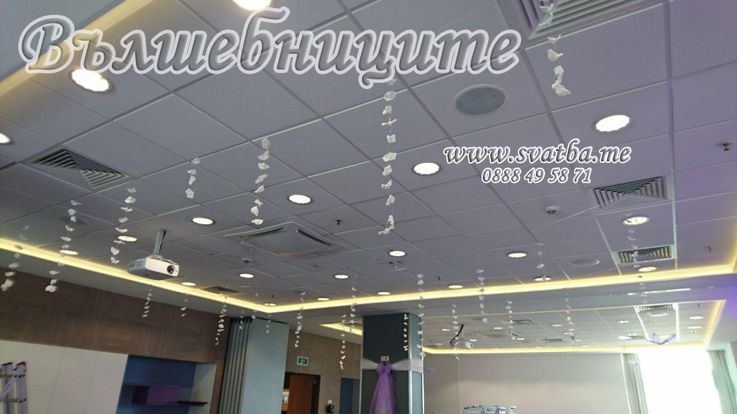 Сватбена украса хотел Новотел светло лилаво Hotel Novotel Sofia wedding