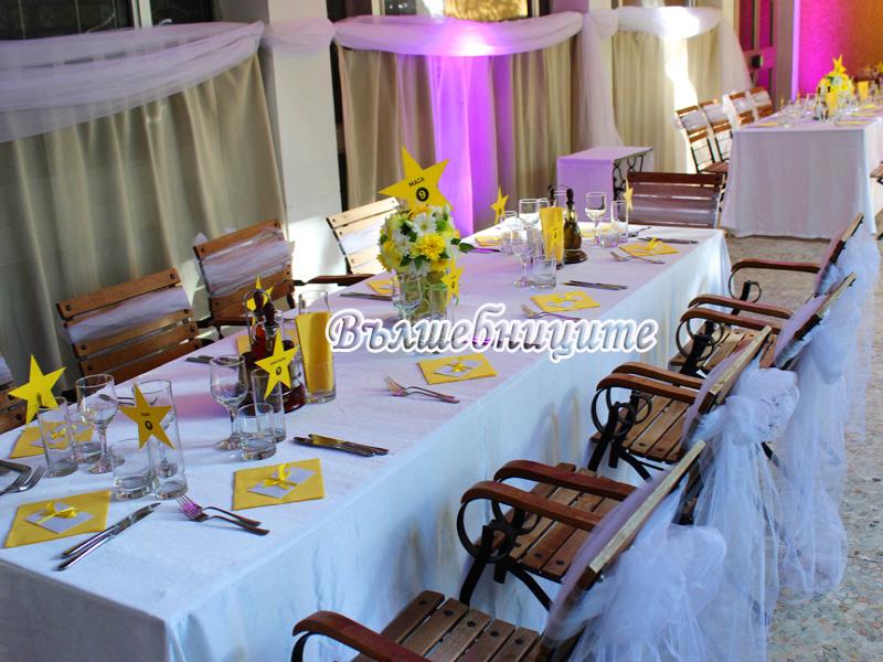 Сватбена декорация в Ресторант Клуб на Архитекта