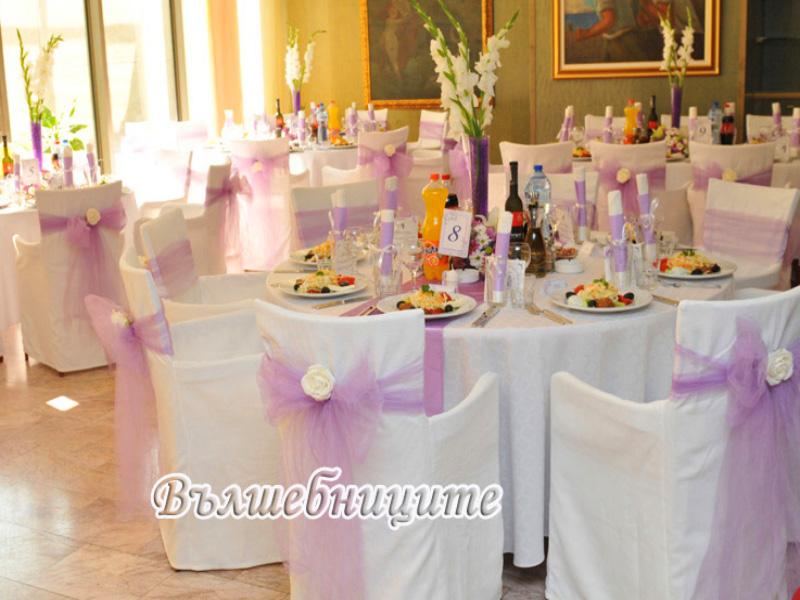 Сватбена декорация в Ресторант PRINCIPI DI PIEMONTE Интерпред