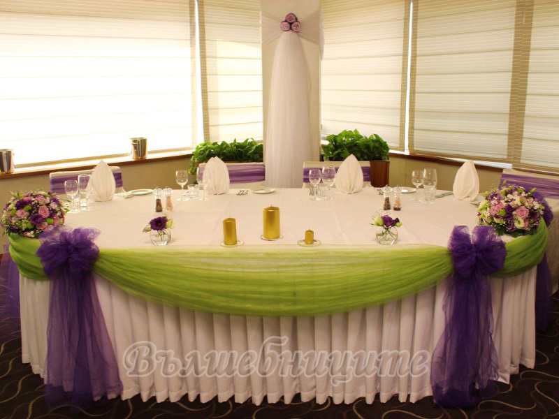 Сватбена декорация в Ресторант При Орлите