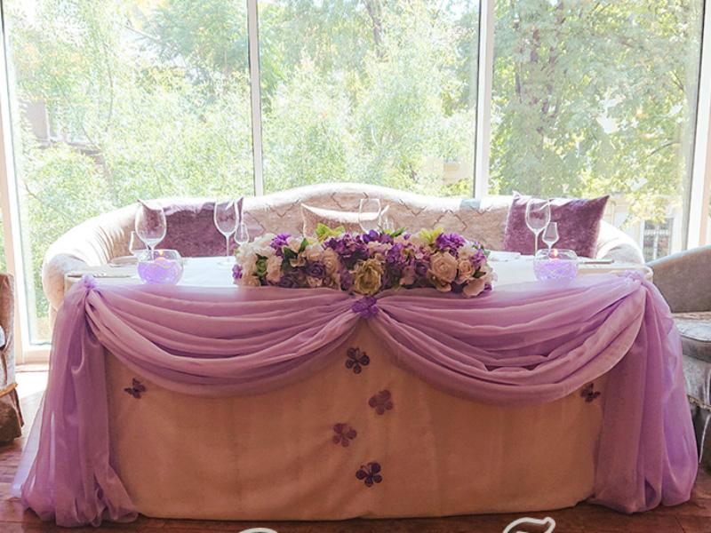 Сватбена декорация в Ресторант Щастливеца София