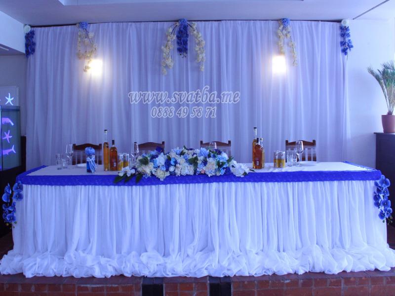 Сватбена декорация в Ресторант Баш Мерак Панчарево