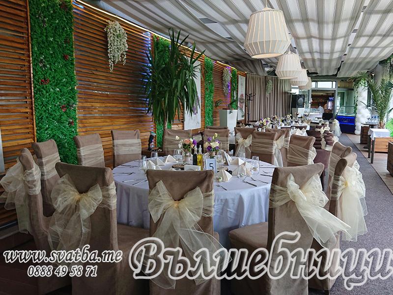 Сватбена декорация в Ресторант Grande Bar & Dinner
