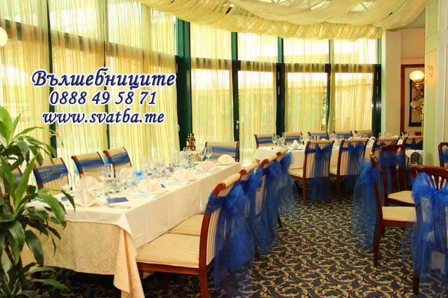 Сватбена украса в хотел Кристал Палас с тема Зимна приказка